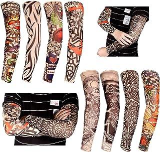 RYMALL Tattoo Sleeves Arm, 8 Stück Unisex dünne Nylon Tatt