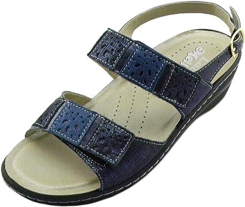 MELLUSO E0544 E0544 Sandales Confortables pour Femme Double Stretch 02971 Bleu  60% de réduction