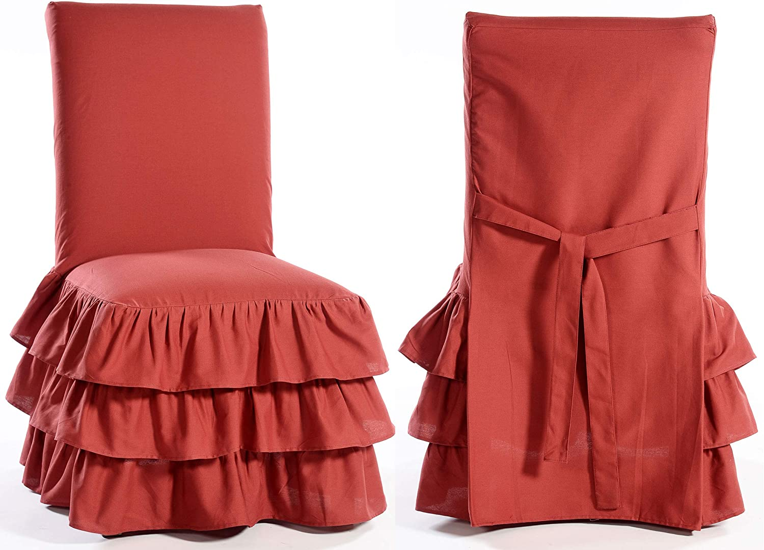 Classic Slipcovers CD3TIERRED Slipcover red Detroit Mall Reservation Dining Chair