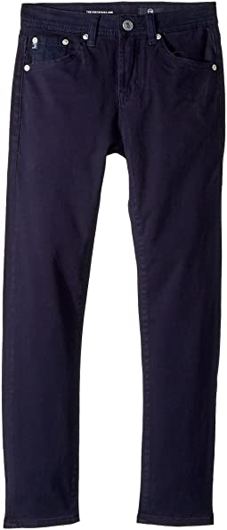 AG Adriano Goldschmied Kids The Kingston Luxe Slim Skinny Sueded Twill in Blue (Big Kids)