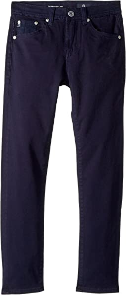 AG Adriano Goldschmied Kids - The Kingston Luxe Slim Skinny Sueded Twill in Blue (Big Kids)