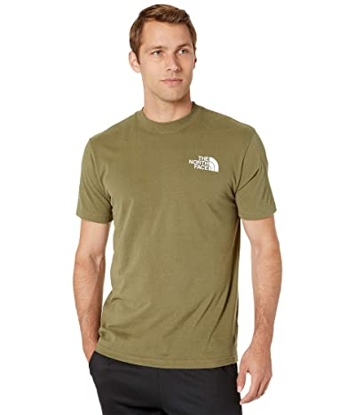 The North Face Short Sleeve Red Box T-Shirt (Burnt Olive Green/Burnt Olive Green) Men