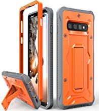ArmadilloTek Vanguard Designed for Samsung Galaxy S10 Plus Case (2019 Release) Military Grade Full-Body Rugged with Kickstand Without Built-in Screen Protector (Orange)