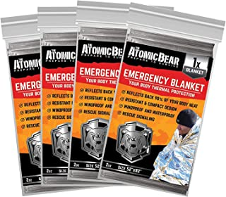 Emergency Blanket or Space Blankets - Ideal as a Survival Thermal Protection - Very Light Double Sided Sheet of Mylar Foil...