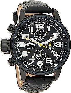 Invicta 3332 I-Force Men's Wrist Watch Stainless Steel Quartz Black Dial