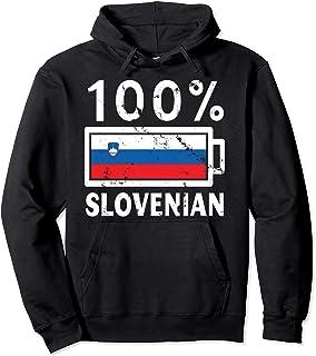 Slovenia Flag Hoodie   100% Slovenian Battery Power Tee