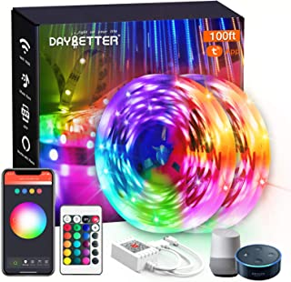 DAYBETTER Smart WiFi Led Lights 100ft, App Controlled Led Strip Lights Kits, Work with Alexa and Google Assistant, Timer S...