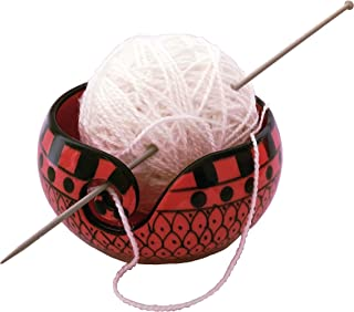 Handcrafted Tomato Red Ceramic Knitting Yarn Bowl Holder, Crochet for Moms & Grandmothers, Gifts for her
