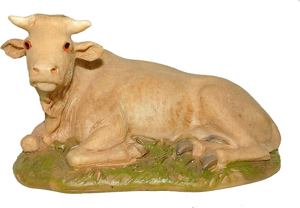Statuine presepe: bue 16 cm in resina