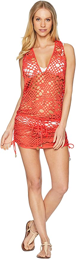 Luli Fama La Cabana T-Back Mini Dress Cover-Up