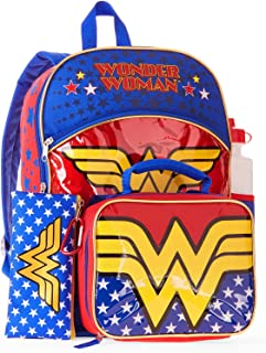 Wonder Woman 5-Piece Backpack Set with Lunchbag