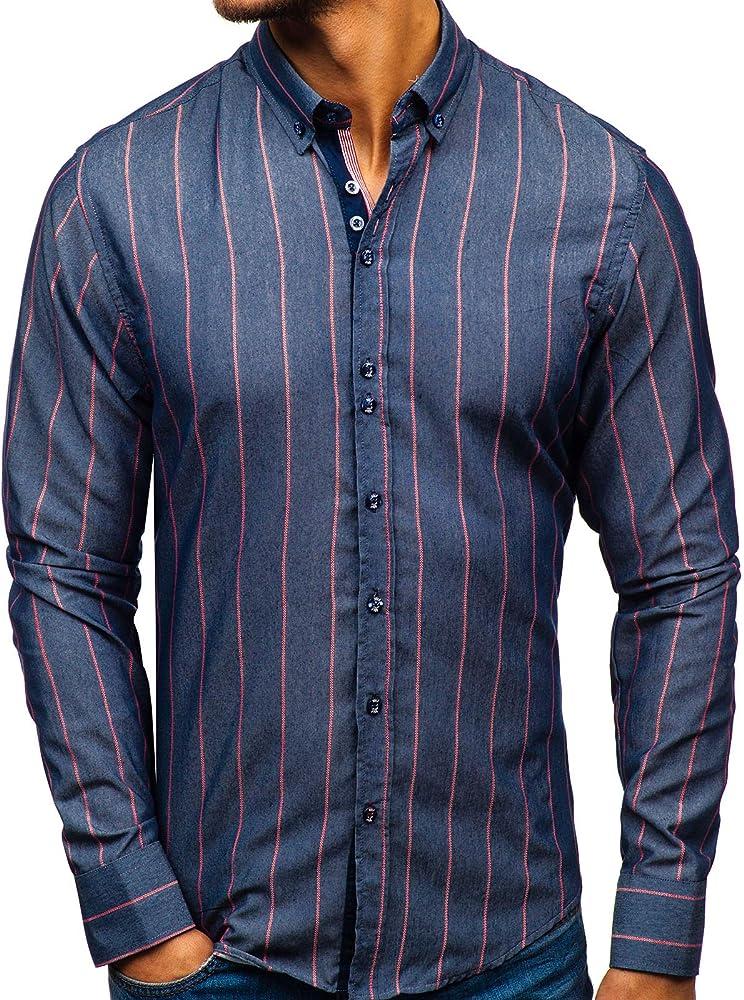 Bolf, camicia manica lunga per uomo,casuale, 80% cotone, 20% poliestere BOLF 2751