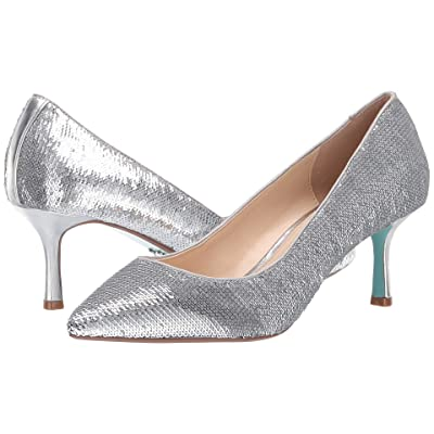 Blue by Betsey Johnson Kamie (Silver Sequins) High Heels