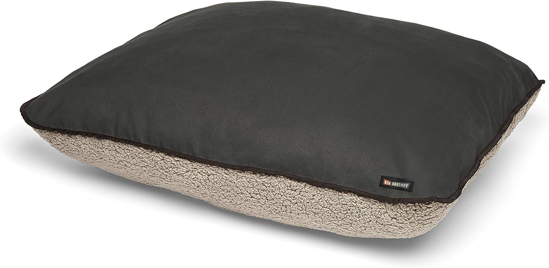 Big Shrimpy Bogo Faux Suede with Putty Berber Fleece Bed, Large, Slate