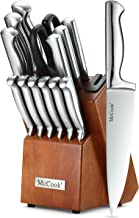 McCook MC29 Knife Sets,15 Pieces German Stainless Steel Kitchen Knife Block Sets with..