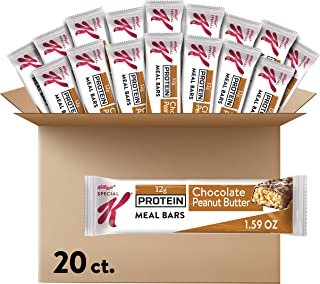 Kellogg's Special K Protein, Meal Bars, Chocolate Peanut Butter, School and Office Snacks (20 Bars)