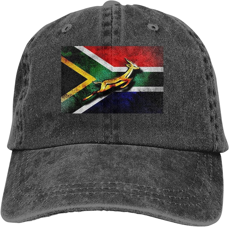 South Africa Flag African Emblem Springbok Unisex Baseball Cap Adjustable Casquette Sun Hat Outdoor Travel Leisure Hat