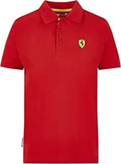 Ferrari Scuderia F1 Kids Classic Polo Black/Red (13-14 Years, Red)