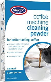 Urnex Coffee Maker and Espresso Machine Cleaner Cleancaf Powder - 3 Packets - Safe On Keurig Delonghi Nespresso Ninja Hami...