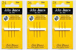 Gold Tapestry Needles, Bundle: Sizes 24, 26 & 28 (3 needles each pack)