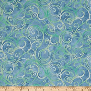 Fabric & Fabric QT Jacqueline Scroll Chambray Fabric by The Yard