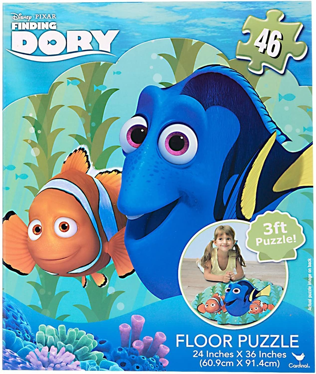 Finding Dory Puzzle Floor Puzzle Set 46 PC Big Jigsaw Finding Dory Puzzle 3 Ft Puzzle by Disney