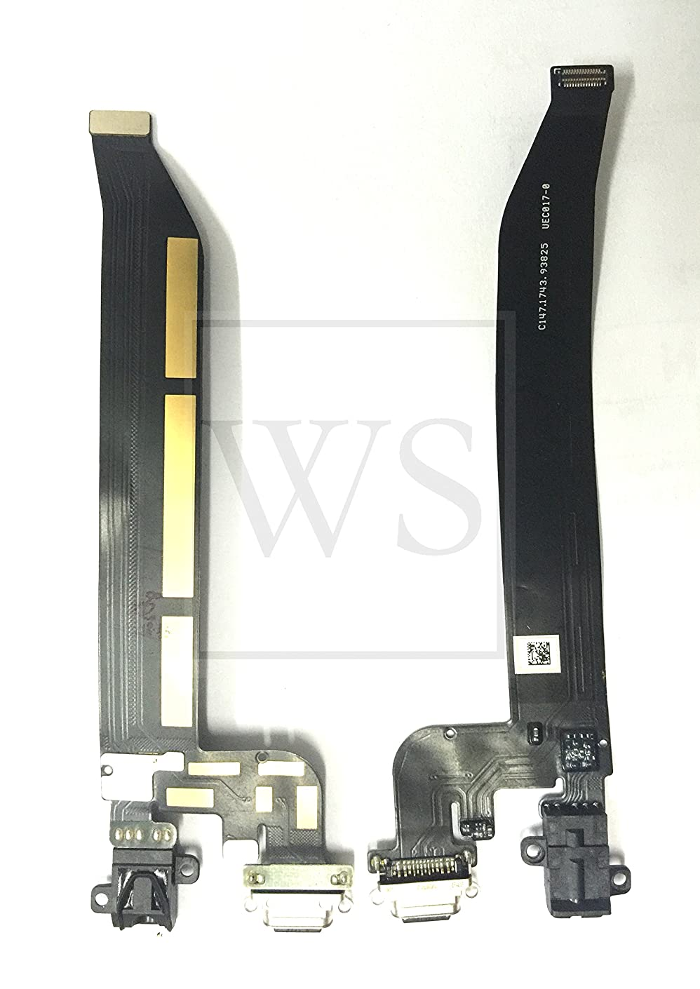 By Walking Slow- Replacement for OnePlus 5T A5010 Charging Port & Earphone Jack Flex Cable