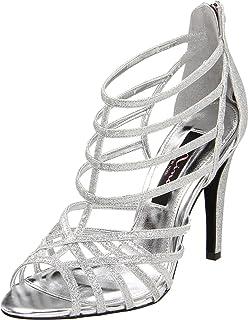 Nina Women's Medina Sandal,Silver,10 M US