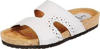 Feetful Women's Leather Fashion Slippers