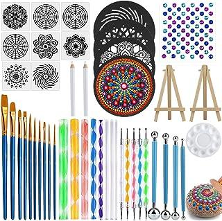 Mandala Dotting Tools Set, 45 PCS Professional Stencil Painting Arts Supplies Tools Kits Including Stencil Templates, Mini...