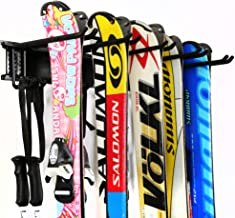 Ultrawall Ski Wall Rack, 5 Pairs of Snowboard Rack Wall Mount,Home and Garage Skiing Storage Mount Hold up to 300lbs