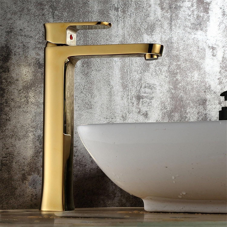 Xicaimen Wasserfall Wasserhahn Bad Waschtischarmatur Mischbatterie MessingGold heies und kaltes Wasser Waschtischmischer Bad Armatur für Badezimmer Waschbecken Brass Body