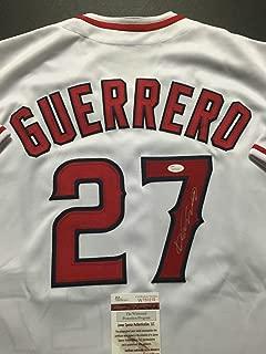 Autographed/Signed Vladimir Vlad Guerrero Los Angeles LA White Baseball Jersey JSA COA