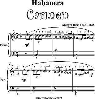 Habanera Carmen Bizet Easy Piano Sheet Music