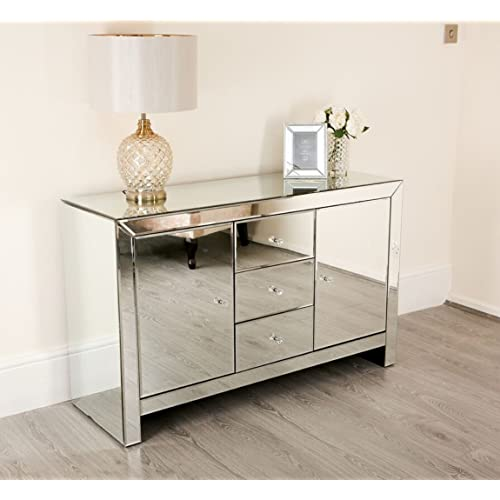 Glass Sideboard Amazon Co Uk