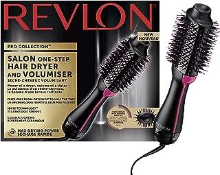 Revlon Pro Collection Salon One-Step - Secador y volumizador de pelo  (3 posiciones de calor, 2 velocidades, revestimiento cerámico, mango ergonómico), negro y rosa