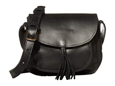 ABLE Maria Tassel Crossbody (Black) Shoulder Handbags