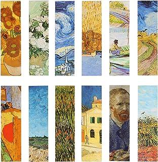 Van Gogh Oil Painting Bookmarks for Women Men Kids Boys Girls, 30PCS