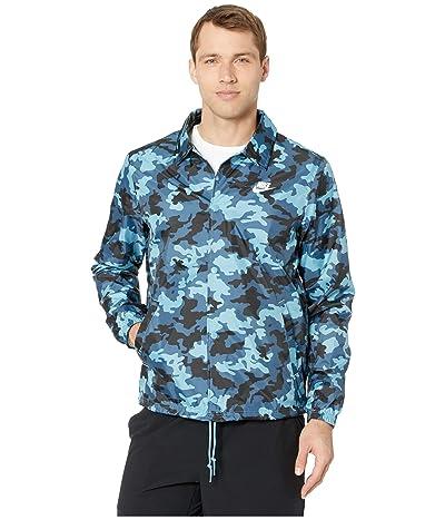 Nike NSW Coaches Jacket Woven Camo (Cerulean/White) Men