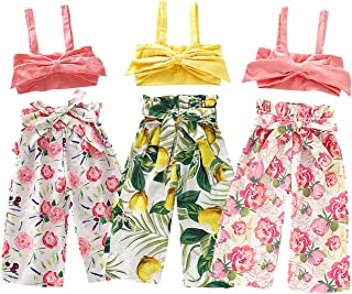 YOUNGER TREE Baby Girls One Piece Watermelon Print Bikini Swimsuit Halter Bathing Suits for Toddler Girls
