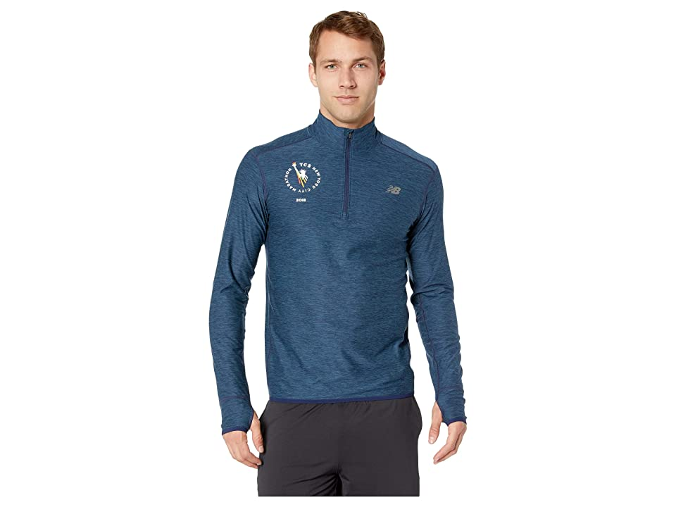 New Balance N Transit 1/4 Zip (Pigment Heather) Men