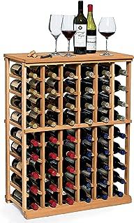 N'FINITY Wine Rack Kit - 6 Column Half Height -Natural Finish - Solid Mahogany