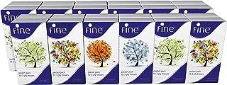 FINE Pocket Tissue Four Season 10x3 Ply White Tissues / 24 Pack