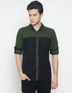 OJASS Men's Solid Casual Slim Shirt