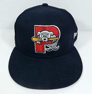 timeless design 081d3 c4fbe Portland Sea Dogs   Game Used Blue Home 25 Seasons Hat PSDOG0062 - MLB Game  Used