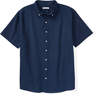 Men's Short-Sleeve Pocket Oxford Shirt fit by DXL
