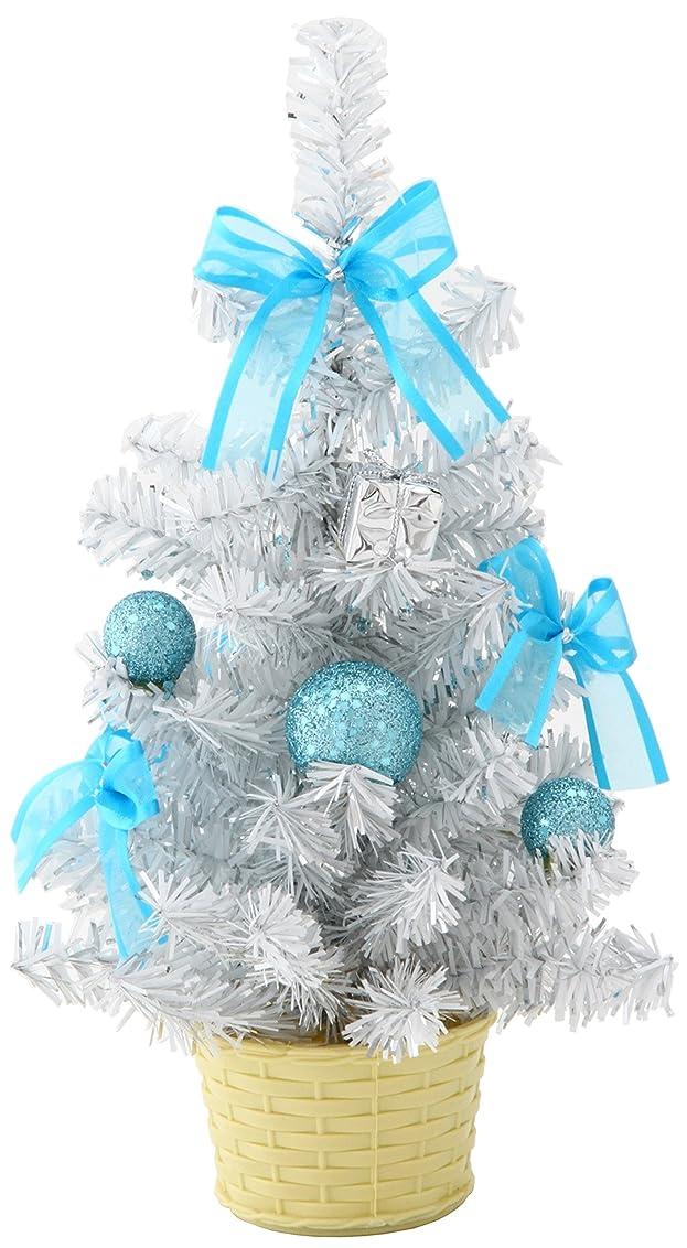 第四誰性的不二貿易 ホワイトテーブルツリー 高さ26cm ライトブルー 26423