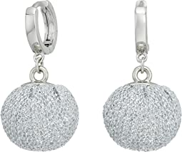 High Shine Pompom Huggie Earrings
