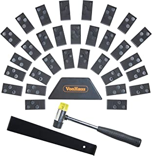 VonHaus Laminate Wood Flooring Fitting Tool Kit with 30 Spacers – Floor Installation Mallet Wedge and Bar