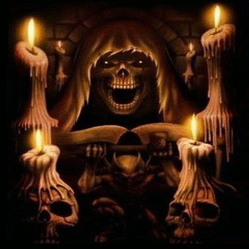 Grim Reaper Candles Live Wallpaper